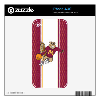 Goldy Basketball Skins For iPhone 4