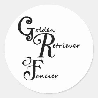 goldy fancier classic round sticker