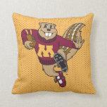Goldy Football Pillow