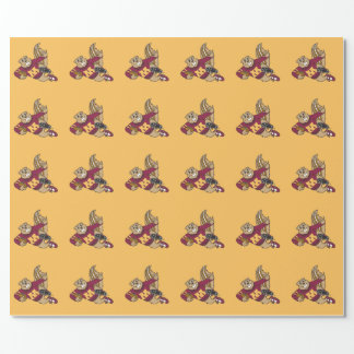 Goldy Football Wrapping Paper
