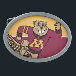 """Goldy Gopher Belt Buckle<br><div class=""""desc"""">Get your gear featuring Goldy the Gopher! Check out these official University of Minnesota mascot designs! Personalize your own Minnesota merchandise on Zazzle.com with your name or class year. Try adding text using various fonts &amp; view a preview of your design!</div>"""