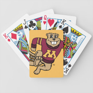 Goldy Gopher Bicycle Playing Cards