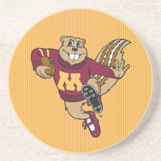 Goldy Gopher Football - Heisman Pose Drink Coaster