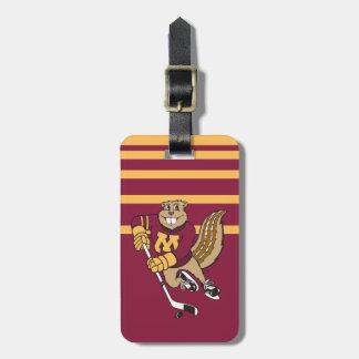 Goldy Gopher Hockey Bag Tag