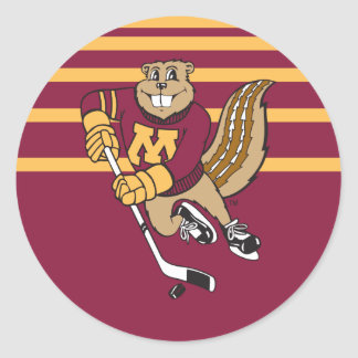 Goldy Gopher Hockey Classic Round Sticker
