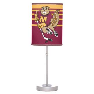 Goldy Gopher Hockey Desk Lamp