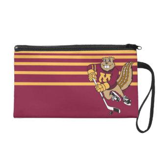 Goldy Gopher Hockey Wristlet Purse