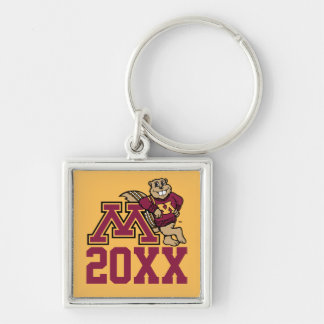 Goldy Gopher M with Class Year Keychain