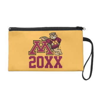 Goldy Gopher M with Class Year Wristlet