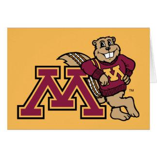 Goldy Gopher & Minnesota M Card