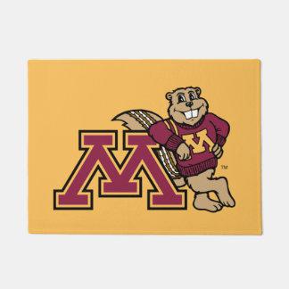 Goldy Gopher & Minnesota M Doormat
