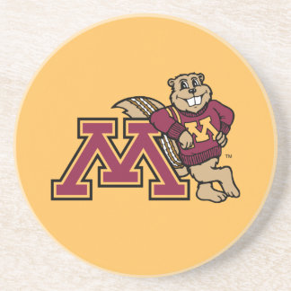 Goldy Gopher & Minnesota M Drink Coaster