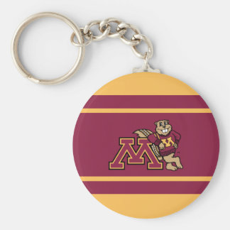 Goldy Gopher & Minnesota M Keychain
