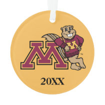 Goldy Gopher & Minnesota M Ornament