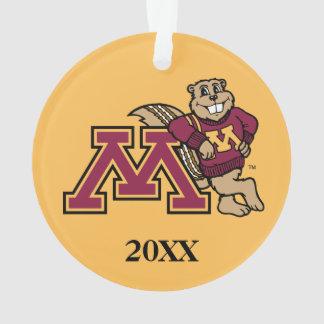 Goldy Gopher & Minnesota M Ornament