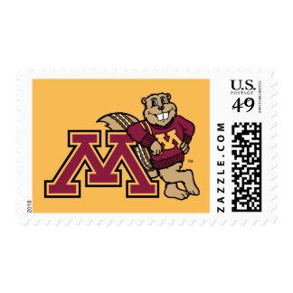 Goldy Gopher & Minnesota M Postage
