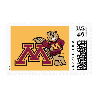 Goldy Gopher & Minnesota M Postage Stamps