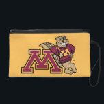 """Goldy Gopher &amp; Minnesota M Wristlet<br><div class=""""desc"""">Show off your University of Minnesota athletics pride! Get your Goldy the Gopher gear here. Personalize your own Minnesota merchandise on Zazzle.com with your name or class year. Try adding text using various fonts &amp; view a preview of your design!</div>"""