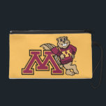 "Goldy Gopher & Minnesota M Wristlet<br><div class=""desc"">Show off your University of Minnesota athletics pride! Get your Goldy the Gopher gear here. Personalize your own Minnesota merchandise on Zazzle.com with your name or class year. Try adding text using various fonts & view a preview of your design!</div>"