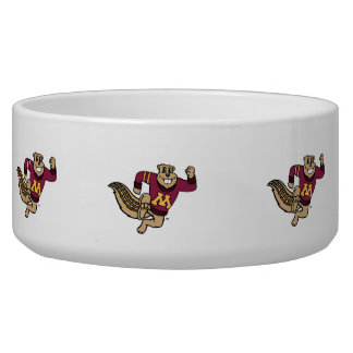 Goldy Gopher Dog Water Bowl