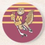 Goldy Hockey Beverage Coasters