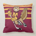 Goldy Hockey Throw Pillow