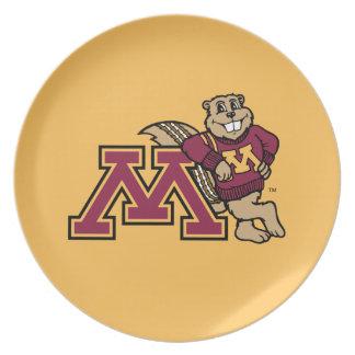 Goldy & Minnesota M Dinner Plate