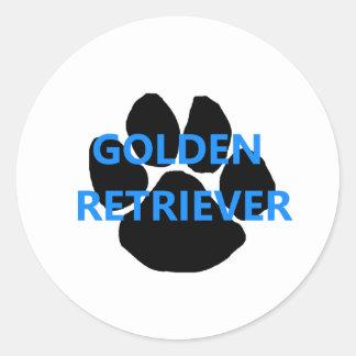 goldy name paw classic round sticker
