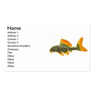 Goldy Sunshine Pleco Business Card
