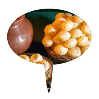 GOLE GAPPAY Panni Puri Indian Cuisine Snack Cake Topper