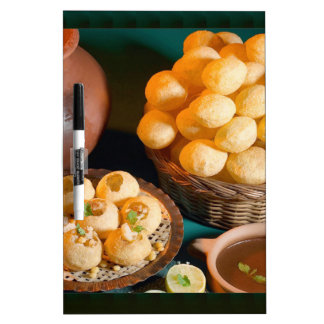GOLE GAPPAY Panni Puri Indian Cuisine Snack Dry-Erase Board