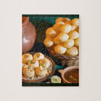GOLE GAPPAY Panni Puri Indian Cuisine Snack Jigsaw Puzzle
