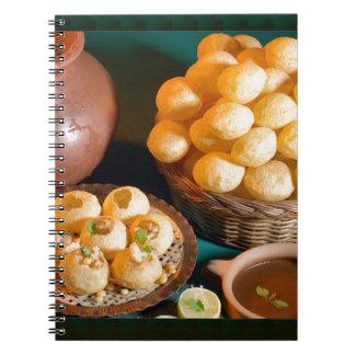 GOLE GAPPAY Panni Puri Indian Cuisine Snack Notebook