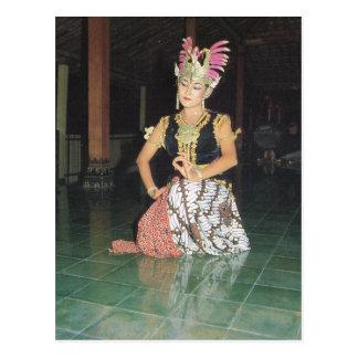 Golek Dancers, Hindu traditional dancing, Postcard