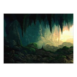 Golem en cueva comunicado personalizado