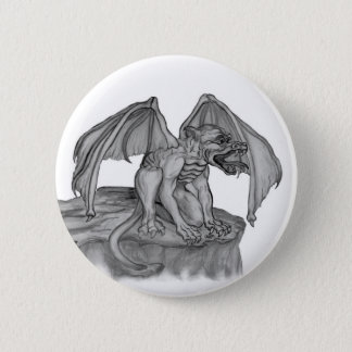 GOLEM - Gargoyle black-and-white Design Button