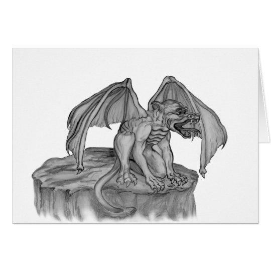 GOLEM - Gargoyle black-and-white Design Card