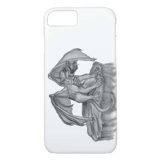 Golem Gargoyle black and white Design iPhone 7 Case