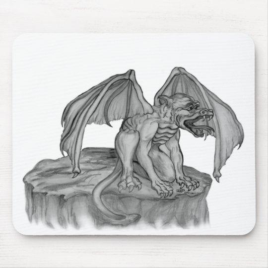 GOLEM - Gargoyle black-and-white Design Mouse Pad