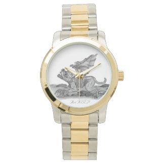 Golem Gargoyle, Black and white design Watch