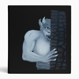 Golem Gargoyle Oil Painting by KSZP 3 Ring Binder