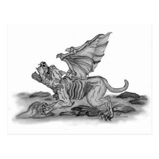GOLEM Gargoyle Postcard