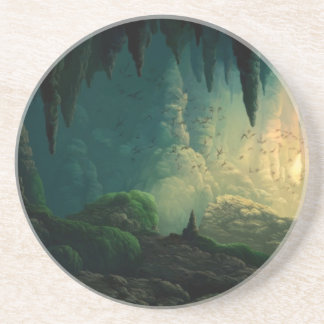Golem in Cave Drink Coaster