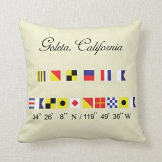 Goleta California Nautical Signal Flag Pillow