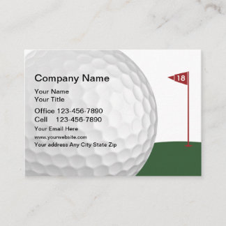 Golf 18 Hole Design Business Card