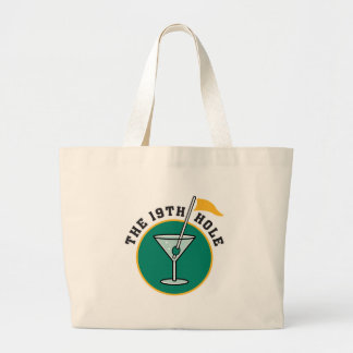 golf 19th hole drink time humor tote bags