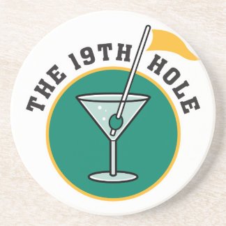 golf 19th hole drink time humor drink coasters