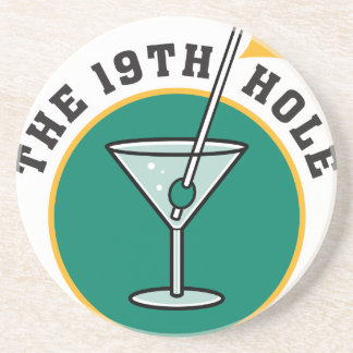 golf 19th hole drink time humor coasters