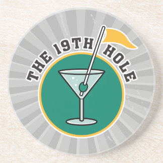 golf 19th hole drink time humor beverage coaster