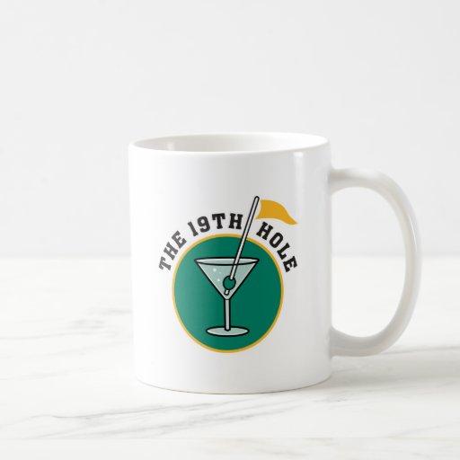 golf 19th hole drink time humor coffee mug